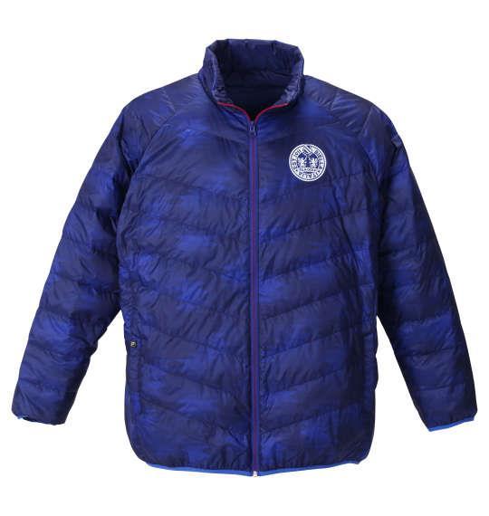大きいサイズ メンズ FILA GOLF ライト ダウン ジャケット ブルー 1273-0300-1 3L 4L 5L 6L
