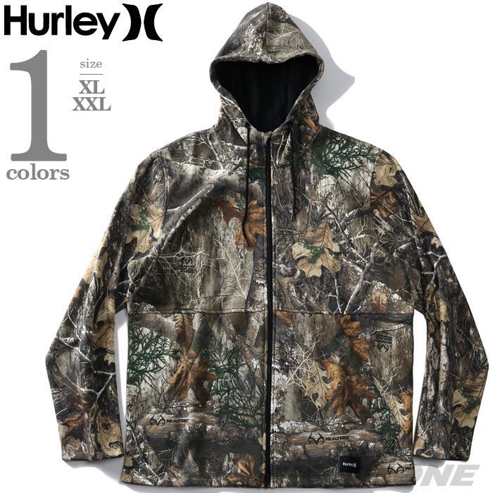 大きいサイズ メンズ HURLEY ハーレー 総柄 フリース フルジップ パーカー USA直輸入 cv1353