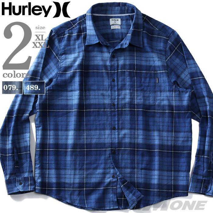 【ビッグバーゲン】大きいサイズ メンズ HURLEY ハーレー フランネル チェック柄 シャツ USA直輸入 cu1010