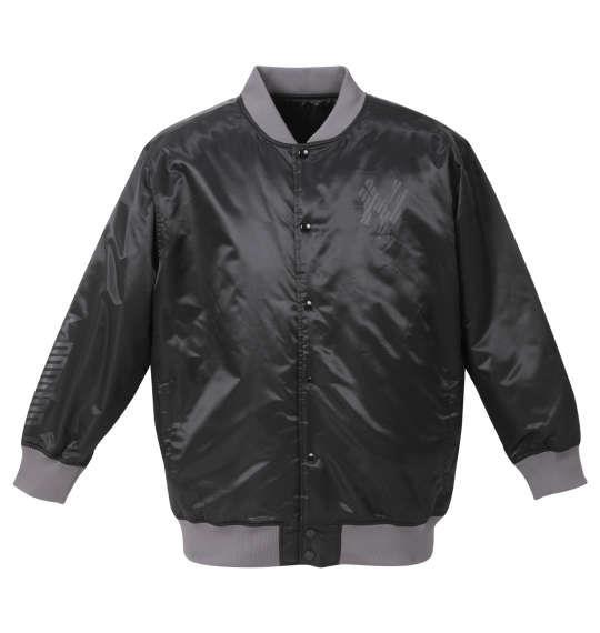 大きいサイズ メンズ Majestic NY ミリタリー プリント サテン ジャケット ブラック 1273-0330-2 3L 4L 5L 6L
