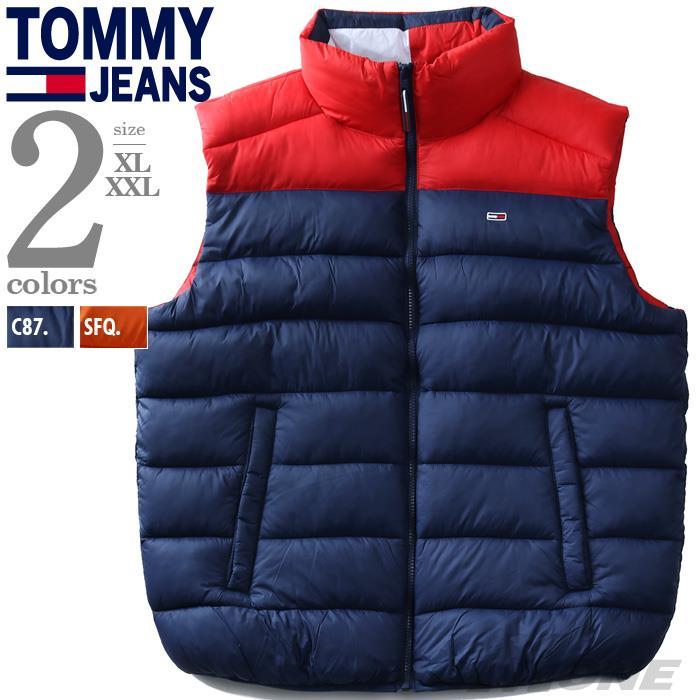 【冬最終】大きいサイズ メンズ TOMMY JEANS トミージーンズ 中綿 切替 ベスト USA直輸入 dm0dm08430