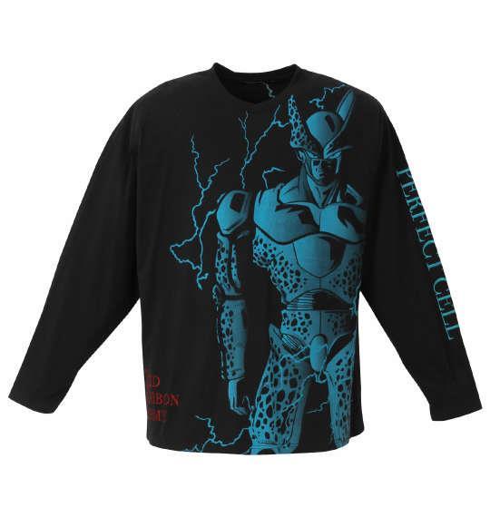 大きいサイズ メンズ 絡繰魂 × DRAGONBALL Z セル完全体 長袖 Tシャツ ブラック 1278-0680-1 3L 4L 5L 6L