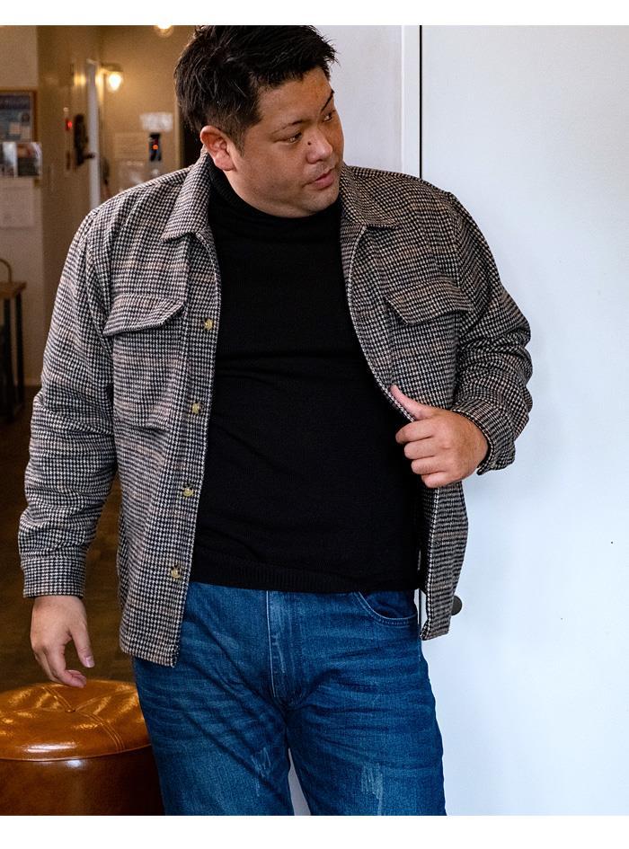 【冬最終】【pd0106】大きいサイズ メンズ DANIEL DODD 長袖 ウール混 CPO シャツ 秋冬新作 651-200514
