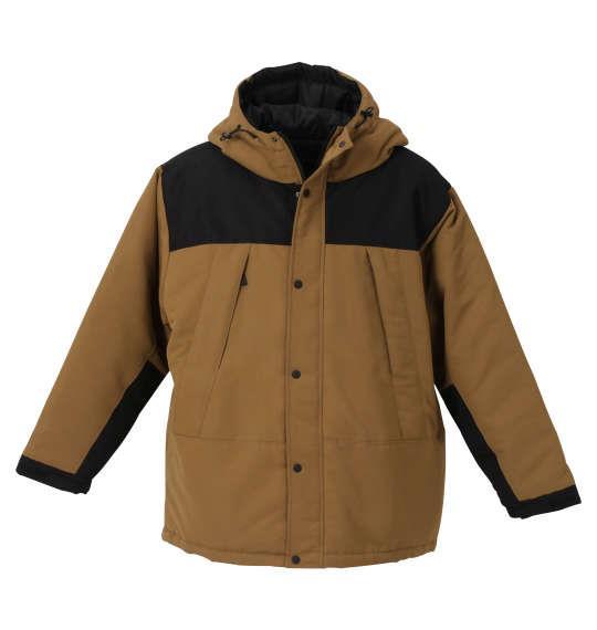大きいサイズ メンズ PREPS タスラン 中綿 切替 ジャケット ベージュ 1253-0360-1 3L 4L 5L 6L 8L