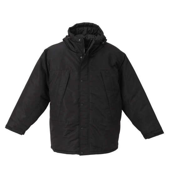 大きいサイズ メンズ PREPS タスラン 中綿 切替 ジャケット ブラック 1253-0360-2 3L 4L 5L 6L 8L