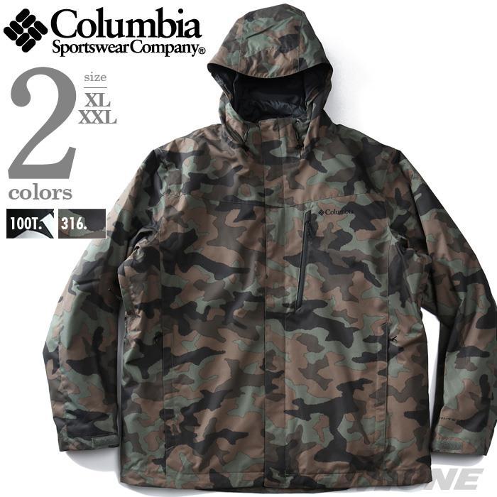 大きいサイズ メンズ Columbia コロンビア ライナー付 3WAY フーデッド ジャケット Whirlibird IV Interchange Jacket USA直輸入 1866751