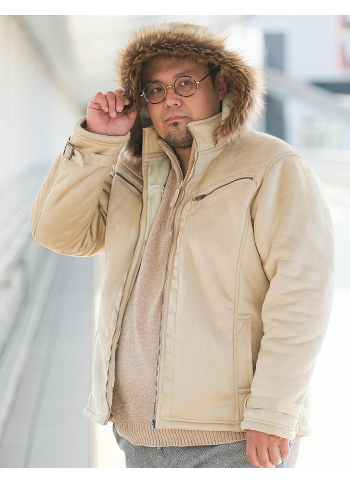 【ブラックフライデー】大きいサイズ メンズ DANIEL DODD フェイクムートン セパレートフード ブルゾン 秋冬新作 936-b200507