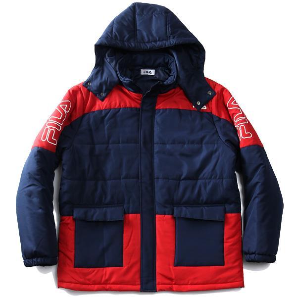 【冬最終】大きいサイズ メンズ FILA フィラ セパレートフード 中綿 ブルゾン 440-955