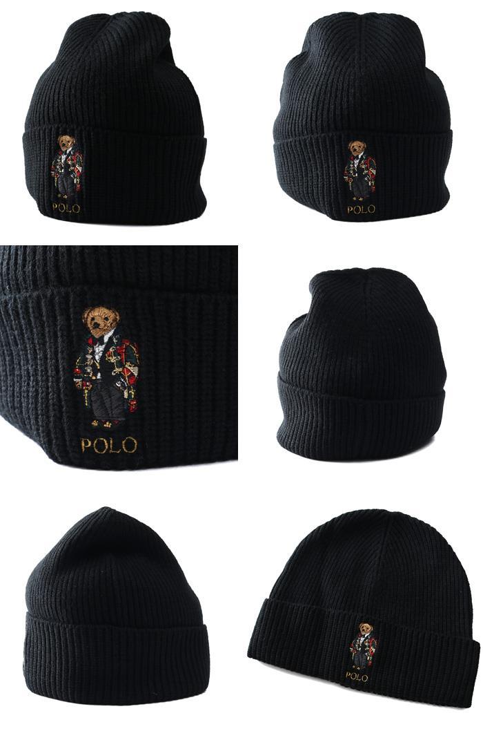 メンズ POLO RALPH LAUREN ポロ ラルフローレン ニット帽 ビーニー ニット キャップ 帽子 USA直輸入 pc0680