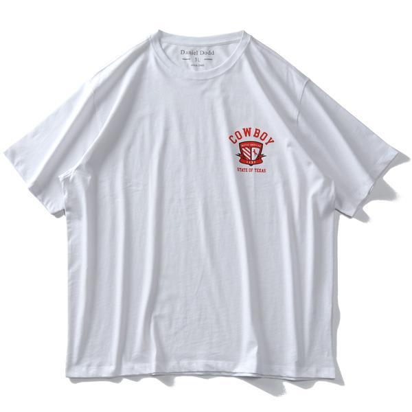 【ss0610】【Fbar210610】【sb0511】大きいサイズ メンズ DANIEL DODD オーガニックコットン プリント 半袖 Tシャツ COWBOY 春夏新作 azt-210218