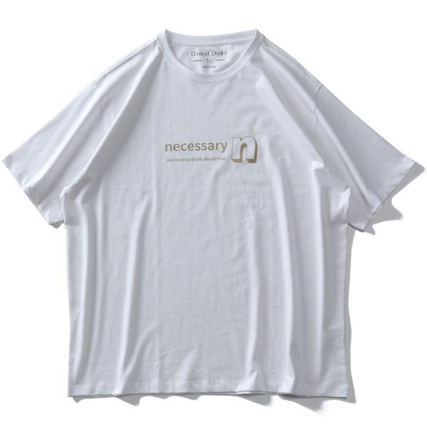 大きいサイズ メンズ DANIEL DODD オーガニックコットン プリント 半袖 Tシャツ NECESSARY 春夏新作 azt-210225