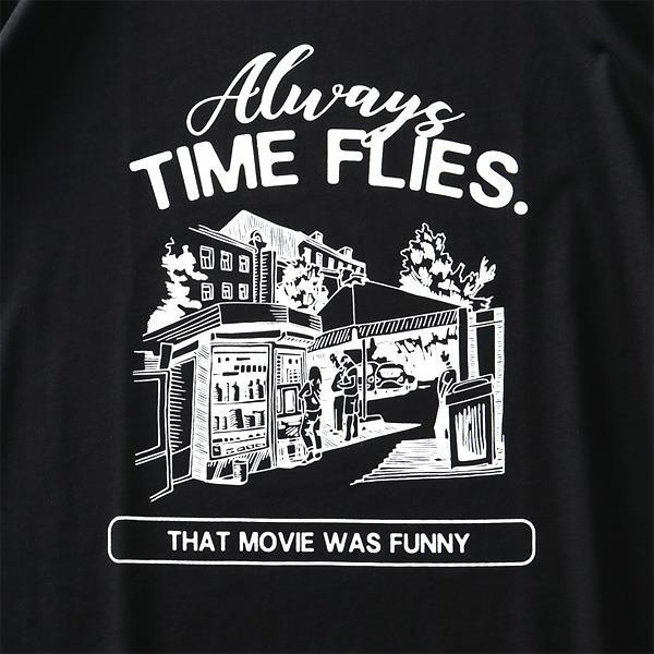 大きいサイズ メンズ DANIEL DODD オーガニックコットン プリント 半袖 Tシャツ TIME FLIES 春夏新作 azt-210226