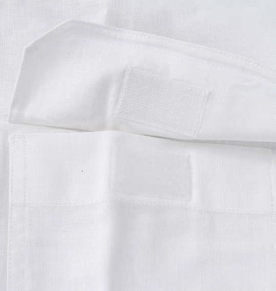 大きいサイズ メンズ OUTDOOR PRODUCTS 綿麻 ロールアップ 長袖 シャツ オフホワイト 1257-1120-1 3L 4L 5L 6L 8L
