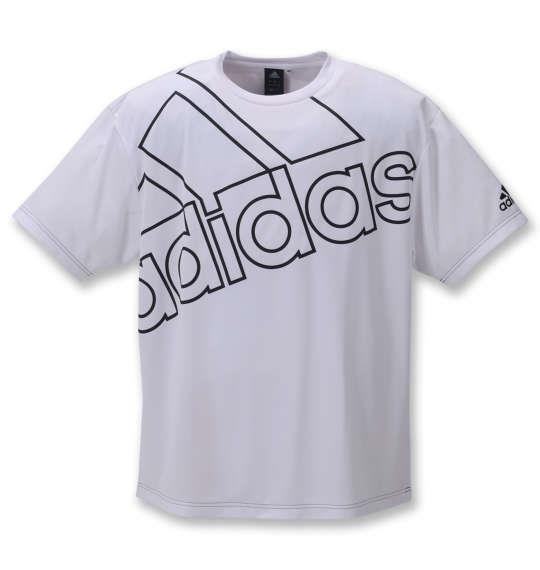 大きいサイズ メンズ adidas 半袖 Tシャツ ホワイト 1278-1150-1 3XO 4XO 5XO 6XO 7XO 8XO