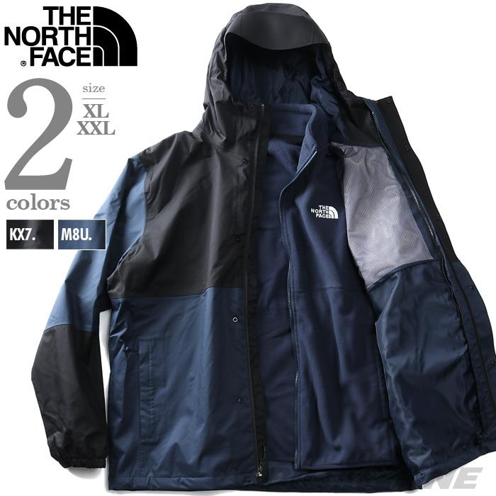 大きいサイズ メンズ THE NORTH FACE ザ ノース フェイス ライナー付 3WAY フーデッド ジャケット RESOLVE TRICLIM USA直輸入 nf0a4m9r