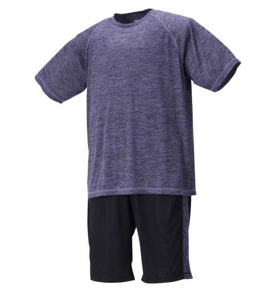 大きいサイズ メンズ Mc.S.P DRYカチオン杢 半袖 Tシャツ + ハーフパンツ ネイビー × ブラック 1256-1210-1 3L 4L 5L 6L 8L