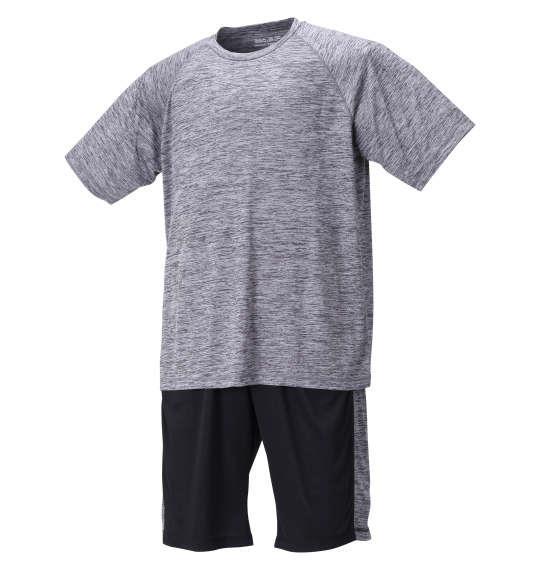 大きいサイズ メンズ Mc.S.P DRYカチオン杢 半袖 Tシャツ + ハーフパンツ チャコール × ブラック 1256-1210-2 3L 4L 5L 6L 8L
