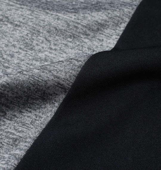 大きいサイズ メンズ VOLCANIC カチオン 天竺 切替 半袖 Tシャツ + ハーフパンツ グレー杢 1258-1260-1 3L 4L 5L 6L