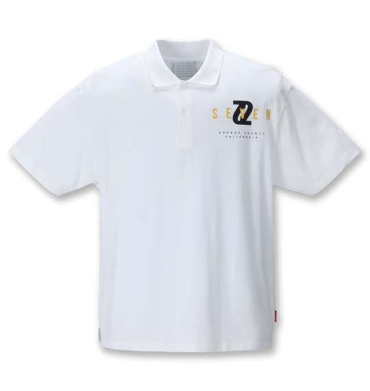 大きいサイズ メンズ SEVEN2 半袖 ポロシャツ ホワイト 1268-1223-1 3L 4L 5L 6L