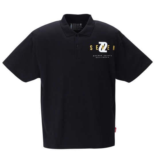 大きいサイズ メンズ SEVEN2 半袖 ポロシャツ ブラック 1268-1223-2 3L 4L 5L 6L