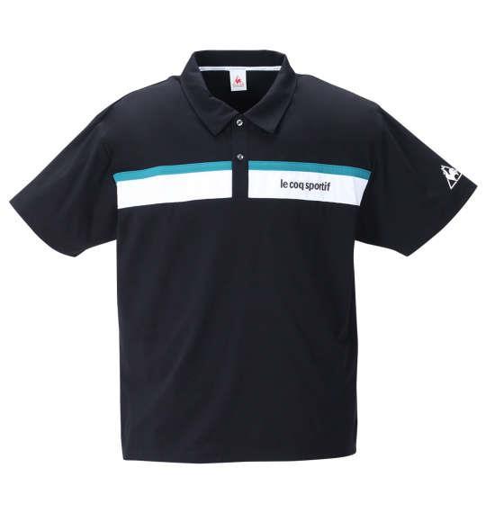 大きいサイズ メンズ LE COQ SPORTIF ストレッチ ファイバー 半袖 ポロシャツ ブラック 1278-1223-2 2L 3L 4L 5L 6L
