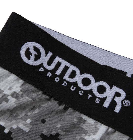 大きいサイズ メンズ OUTDOOR PRODUCTS ピクセル カモフラ ボクサーパンツ ブラック 1249-1222-2 3L 4L 5L 6L