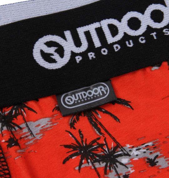 大きいサイズ メンズ OUTDOOR PRODUCTS ヤシの木 ボクサーパンツ レッド 1249-1223-1 3L 4L 5L 6L