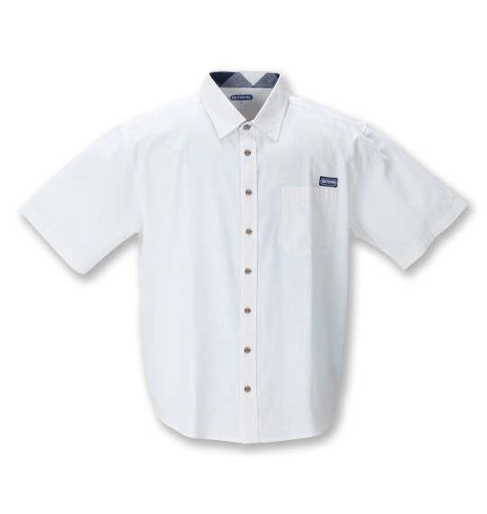 大きいサイズ メンズ OUTDOOR PRODUCTS 綿麻 半袖 シャツ オフホワイト 1257-1200-1 3L 4L 5L 6L 8L