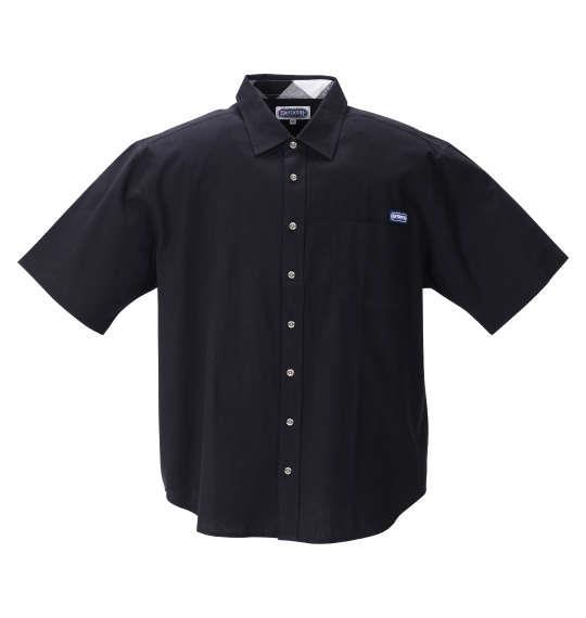 大きいサイズ メンズ OUTDOOR PRODUCTS 綿麻 半袖 シャツ ブラック 1257-1200-2 3L 4L 5L 6L 8L