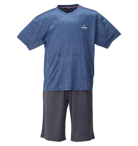 大きいサイズ メンズ marie claire homme DRY カチオン 半袖 Tシャツ + DRY メッシュ ハーフパンツ ネイビー杢 × チャコール 1259-1232-1 3L 4L 5L 6L 8L
