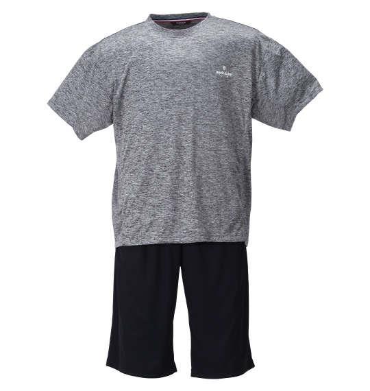 大きいサイズ メンズ marie claire homme DRY カチオン 半袖 Tシャツ + DRY メッシュ ハーフパンツ グレー杢 × ブラック 1259-1232-2 3L 4L 5L 6L 8L