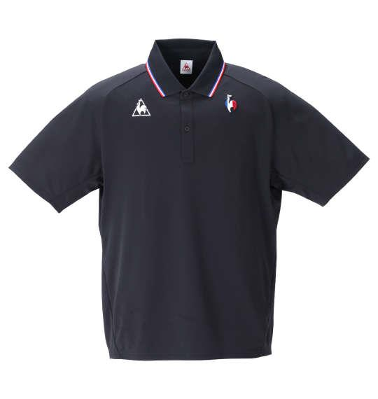 大きいサイズ メンズ LE COQ SPORTIF サンスクリーンエアスタイリッシュ 半袖 ポロシャツ ブラック 1278-1224-2 2L 3L 4L 5L 6L