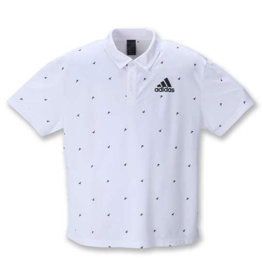 大きいサイズ メンズ adidas 半袖 ポロシャツ ホワイト 1278-1262-1 3XO 4XO 5XO 6XO 7XO 8XO