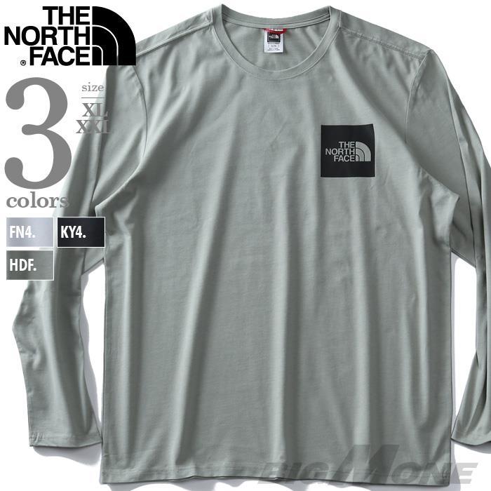大きいサイズ メンズ THE NORTH FACE ザ ノース フェイス プリント 長袖 Tシャツ FINE TEE USA直輸入 nf0a37ft