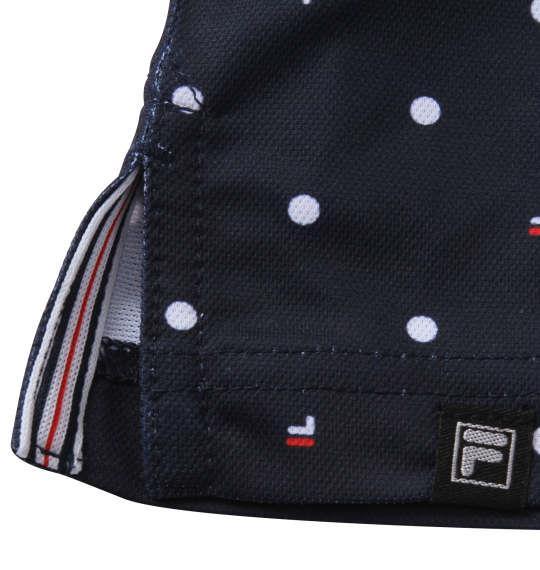 【golf1】大きいサイズ メンズ FILA GOLF ドット柄 半袖 シャツ ネイビー 1278-1270-1 3L 4L 5L 6L