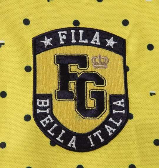 【golf1】大きいサイズ メンズ FILA GOLF ドット柄 半袖 シャツ イエロー 1278-1270-2 3L 4L 5L 6L