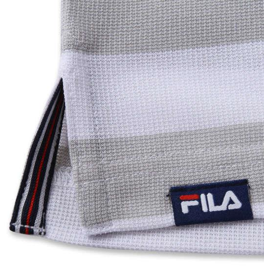 【golf1】大きいサイズ メンズ FILA GOLF ボーダー ラガー 半袖 シャツ グレー 1278-1271-2 3L 4L 5L 6L