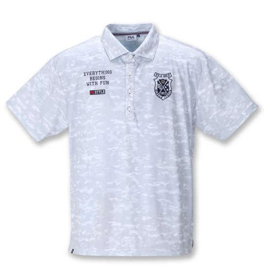 【golf1】大きいサイズ メンズ FILA GOLF 接触冷感 カモ柄 半袖 シャツ ホワイトカモ 1278-1272-1 3L 4L 5L 6L