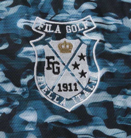 【golf1】大きいサイズ メンズ FILA GOLF 接触冷感 カモ柄 半袖 シャツ グリーンカモ 1278-1272-2 3L 4L 5L 6L