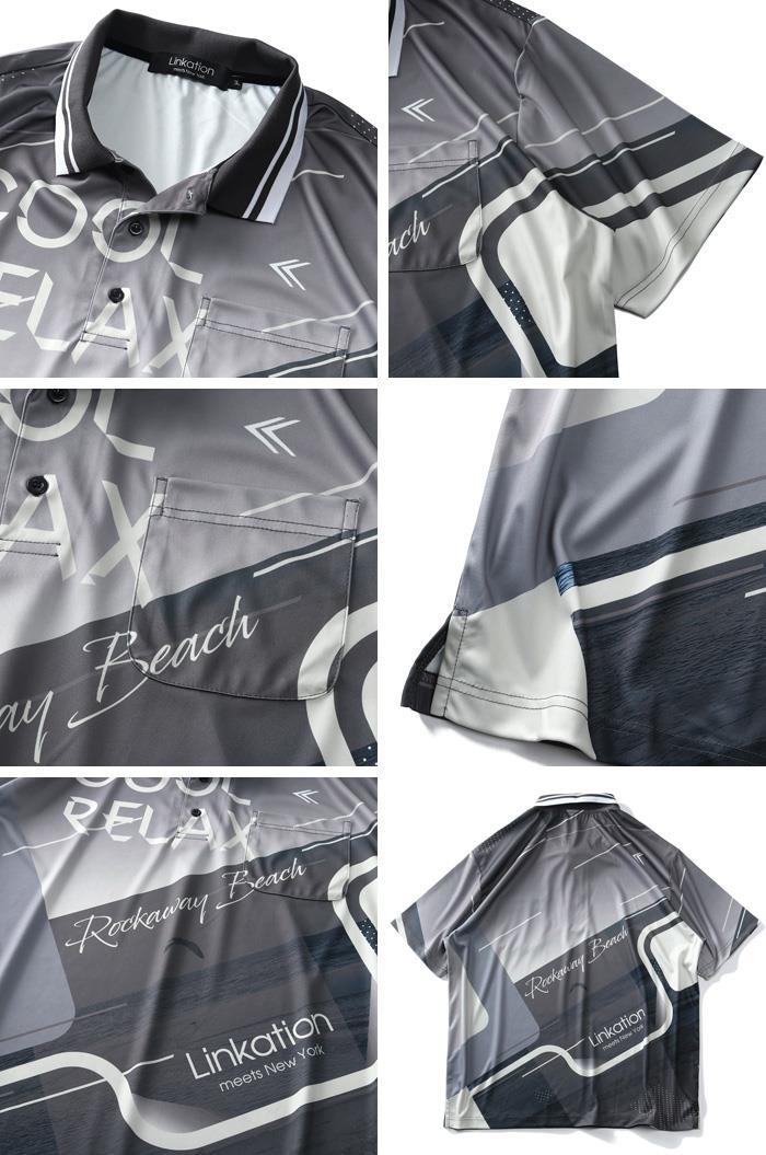 【Fbar210610】【golf1】【sb0511】大きいサイズ メンズ LINKATION 半袖 ゴルフ ポロシャツ アスレジャー スポーツウェア 春夏新作 la-pr210277