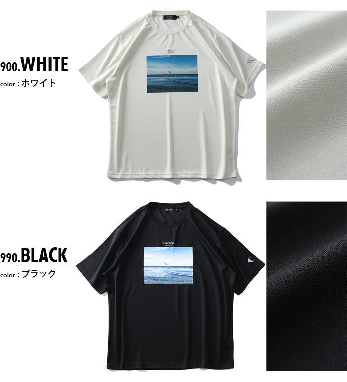 大きいサイズ メンズ LINKATION フォト プリント 半袖 Tシャツ 春夏新作 la-t210278