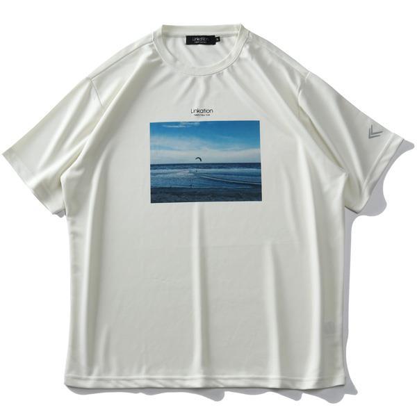 【Fbar210610】【sb0511】大きいサイズ メンズ LINKATION フォト プリント 半袖 Tシャツ 春夏新作 la-t210278