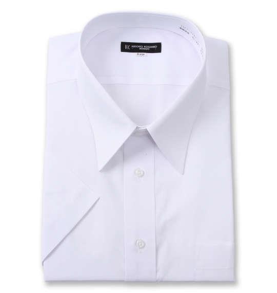 大きいサイズ メンズ HIROKO KOSHINO HOMME レギュラーカラー 半袖 シャツ ホワイト 1277-1261-1 3L 4L 5L 6L 7L 8L 9L 10L
