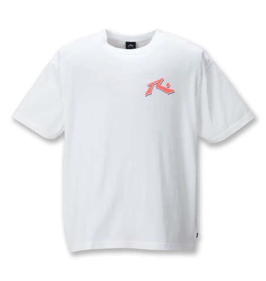 大きいサイズ メンズ RUSTY プリント 半袖 Tシャツ ホワイト 1278-1255-1 3L 4L 5L 6L 8L