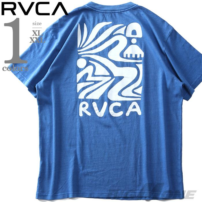 大きいサイズ メンズ RVCA ルーカ プリント 半袖 Tシャツ STRAITS SS USA直輸入 avyzt00264