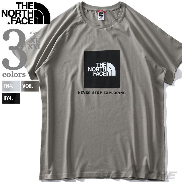 大きいサイズ メンズ THE NORTH FACE ザ ノース フェイス プリント 半袖 Tシャツ RAG RED BOX TEE USA直輸入 nf0a3bqo