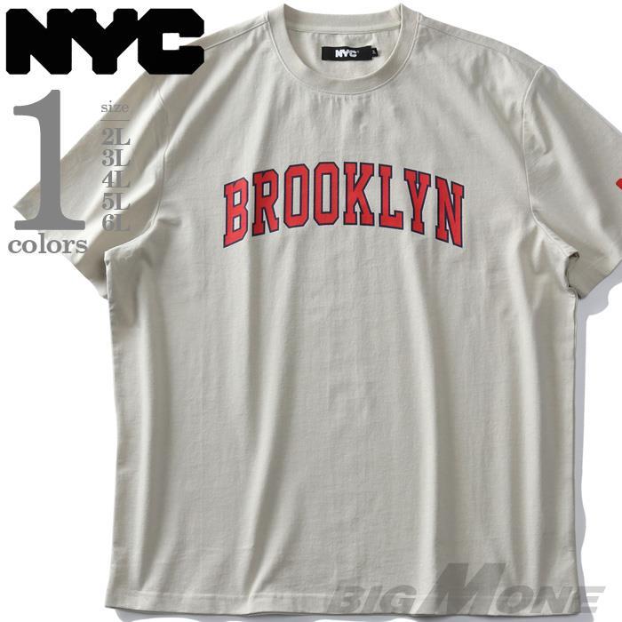 大きいサイズ メンズ NYC ヘビーウェイト プリント 半袖 Tシャツ BROOKLYN 春夏新作 nyc-t210287