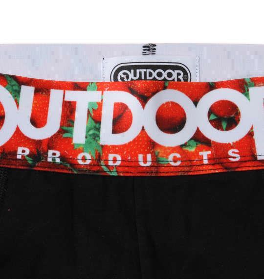 大きいサイズ メンズ OUTDOOR PRODUCTS 転写ゴム ボクサーパンツ ブラック イチゴ 1249-1224-1 3L 4L 5L 6L
