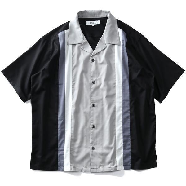 【2021GW】大きいサイズ メンズ DANIEL DODD 半袖 ツイル 切替え オープンカラー シャツ 春夏新作 916-210220