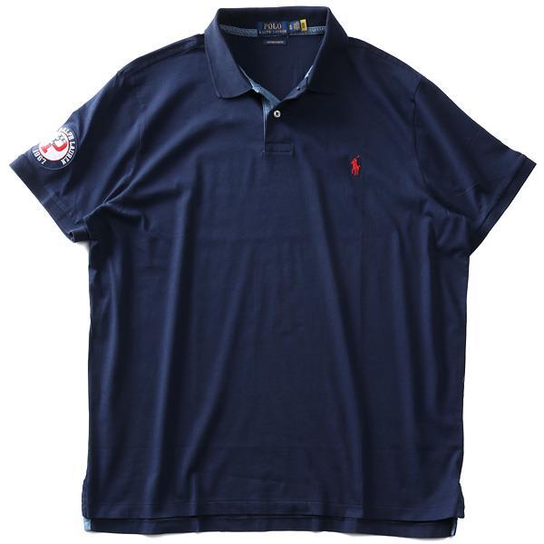 大きいサイズ メンズ POLO RALPH LAUREN ポロ ラルフローレン ロゴ刺繍 半袖 ポロシャツ USA直輸入 710794794